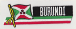 Burundi Embroidered Flag Patch, style 01.